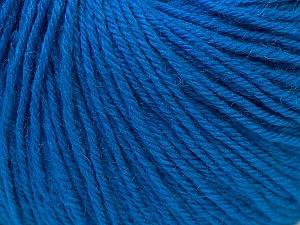Fiber Content 40% Merino Wool, 40% Acrylic, 20% Polyamide, Brand ICE, Blue, Yarn Thickness 2 Fine  Sport, Baby, fnt2-26124