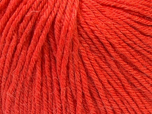 Fiber Content 40% Acrylic, 40% Merino Wool, 20% Polyamide, Orange, Brand ICE, Yarn Thickness 2 Fine  Sport, Baby, fnt2-26128