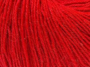 Fiber Content 40% Merino Wool, 40% Acrylic, 20% Polyamide, Red, Brand ICE, Yarn Thickness 2 Fine  Sport, Baby, fnt2-26129