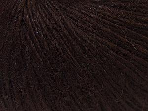 Fiber Content 48% Merino Wool, 27% Acrylic, 25% Polyamide, Brand ICE, Dark Brown, Yarn Thickness 2 Fine  Sport, Baby, fnt2-26136