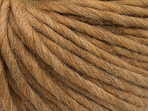 Fiber Content 100% Australian Wool, Light Camel, Brand ICE, Yarn Thickness 6 SuperBulky  Bulky, Roving, fnt2-26153