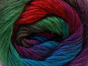 Fiber Content 40% Wool, 30% Acrylic, 30% Mohair, Red, Purple, Brand ICE, Green Shades, Blue, Yarn Thickness 3 Light  DK, Light, Worsted, fnt2-27210