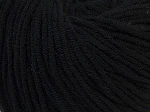 Fiber Content 50% Acrylic, 50% Cotton, Brand ICE, Black, Yarn Thickness 3 Light  DK, Light, Worsted, fnt2-27349