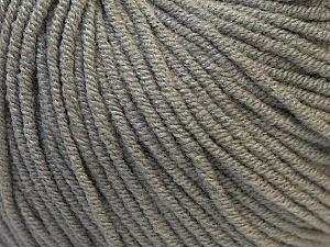 Fiber Content 50% Acrylic, 50% Cotton, Brand ICE, Grey, Yarn Thickness 3 Light  DK, Light, Worsted, fnt2-27351