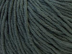 Fiber Content 50% Acrylic, 50% Cotton, Brand ICE, Dark Grey, Yarn Thickness 3 Light  DK, Light, Worsted, fnt2-27352