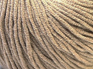 Fiber Content 50% Cotton, 50% Acrylic, Brand ICE, Beige, Yarn Thickness 3 Light  DK, Light, Worsted, fnt2-27353