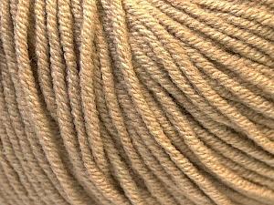 Fiber Content 50% Cotton, 50% Acrylic, Light Brown, Brand ICE, Yarn Thickness 3 Light  DK, Light, Worsted, fnt2-27354