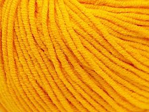 Fiber Content 50% Cotton, 50% Acrylic, Yellow, Brand ICE, Yarn Thickness 3 Light  DK, Light, Worsted, fnt2-27356