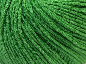 Fiber Content 50% Cotton, 50% Acrylic, Brand ICE, Green, Yarn Thickness 3 Light  DK, Light, Worsted, fnt2-27365