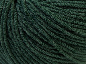 Fiber Content 50% Cotton, 50% Acrylic, Brand ICE, Dark Green, Yarn Thickness 3 Light  DK, Light, Worsted, fnt2-27366