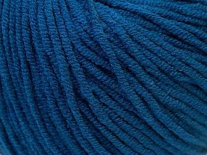 Fiber Content 50% Acrylic, 50% Cotton, Brand ICE, Blue, Yarn Thickness 3 Light  DK, Light, Worsted, fnt2-27367