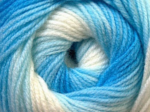 Fiber Content 100% Baby Acrylic, White, Brand ICE, Blue Shades, Yarn Thickness 2 Fine  Sport, Baby, fnt2-29603