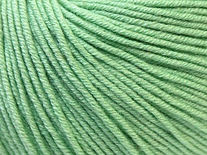 Fiber Content 60% Cotton, 40% Acrylic, Mint Green, Brand ICE, Yarn Thickness 2 Fine  Sport, Baby, fnt2-32566