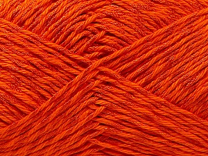 Fiber Content 50% Cotton, 50% Polyester, Orange, Brand ICE, Yarn Thickness 2 Fine  Sport, Baby, fnt2-33045