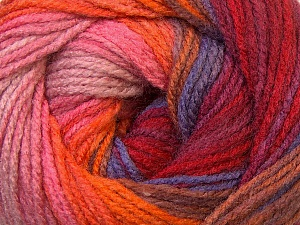 Fiber Content 100% Acrylic, Red, Orange, Brand ICE, Burgundy, Brown Shades, Yarn Thickness 3 Light  DK, Light, Worsted, fnt2-33057