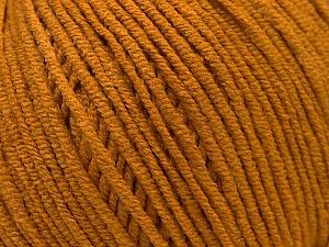 Fiber Content 50% Acrylic, 50% Cotton, Brand ICE, Dark Gold, Yarn Thickness 3 Light  DK, Light, Worsted, fnt2-33059