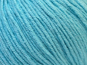 Fiber Content 50% Acrylic, 50% Cotton, Light Turquoise, Brand ICE, Yarn Thickness 3 Light  DK, Light, Worsted, fnt2-33062