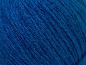 Fiber Content 50% Acrylic, 50% Cotton, Brand ICE, Bright Blue, Yarn Thickness 3 Light  DK, Light, Worsted, fnt2-33064
