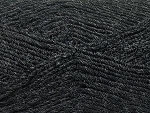 Fiber Content 50% Wool, 50% Acrylic, Brand ICE, Dark Grey, Yarn Thickness 3 Light  DK, Light, Worsted, fnt2-35021