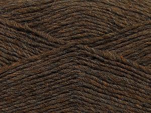 Fiber Content 50% Wool, 50% Acrylic, Brand ICE, Brown Melange, Yarn Thickness 3 Light  DK, Light, Worsted, fnt2-35025