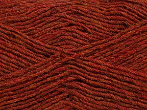 Fiber Content 50% Wool, 50% Acrylic, Brand ICE, Copper Melange, Yarn Thickness 3 Light  DK, Light, Worsted, fnt2-35026
