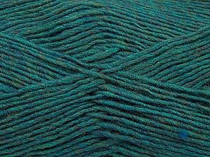 Fiber Content 50% Acrylic, 50% Wool, Teal Melange, Brand Ice Yarns, Yarn Thickness 3 Light  DK, Light, Worsted, fnt2-35027