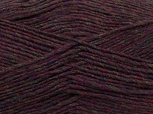 Fiber Content 50% Wool, 50% Acrylic, Maroon Melange, Brand ICE, Yarn Thickness 3 Light  DK, Light, Worsted, fnt2-35029