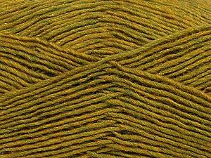 Fiber Content 50% Wool, 50% Acrylic, Olive Green Melange, Brand ICE, Yarn Thickness 3 Light  DK, Light, Worsted, fnt2-35030