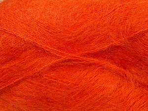 Fiber Content 70% Mohair, 30% Acrylic, Orange, Brand ICE, Yarn Thickness 3 Light  DK, Light, Worsted, fnt2-35051