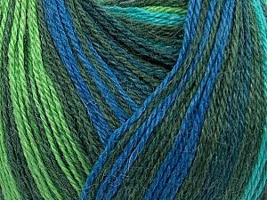 Fiber Content 40% Acrylic, 35% Wool, 25% Alpaca, Turquoise, Brand ICE, Green Shades, Blue, Yarn Thickness 2 Fine  Sport, Baby, fnt2-36988