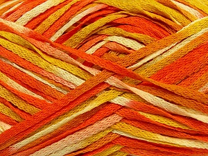 Fiber Content 100% Acrylic, Yellow, Orange, Brand ICE, Cream, Yarn Thickness 3 Light  DK, Light, Worsted, fnt2-37465
