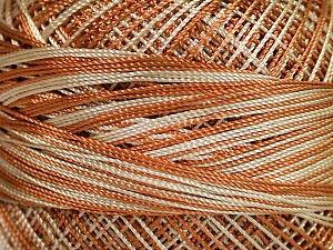 Fiber Content 100% Micro Fiber, Light Brown, Brand ICE, Beige, Yarn Thickness 0 Lace  Fingering Crochet Thread, fnt2-40199