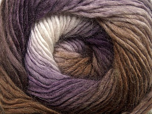 Fiber Content 50% Acrylic, 50% Wool, White, Purple, Brand ICE, Brown Shades, Yarn Thickness 2 Fine  Sport, Baby, fnt2-40629
