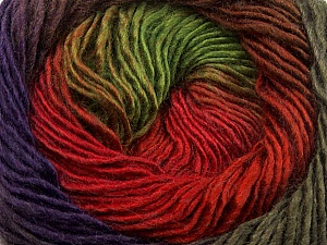 Fiber Content 50% Wool, 50% Acrylic, Red, Purple, Brand ICE, Green, Brown, Yarn Thickness 2 Fine  Sport, Baby, fnt2-40631