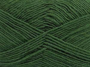 Fiber Content 50% Acrylic, 50% Wool, Brand ICE, Green, Yarn Thickness 3 Light  DK, Light, Worsted, fnt2-40811