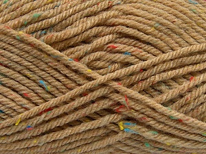 Fiber Content 72% Acrylic, 3% Viscose, 25% Wool, Latte, Brand ICE, Yarn Thickness 6 SuperBulky  Bulky, Roving, fnt2-40837