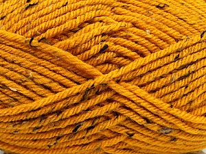 Fiber Content 72% Acrylic, 3% Viscose, 25% Wool, Brand ICE, Gold, Yarn Thickness 6 SuperBulky  Bulky, Roving, fnt2-40841