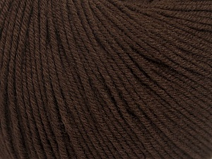 Fiber Content 60% Cotton, 40% Acrylic, Brand ICE, Dark Brown, Yarn Thickness 2 Fine  Sport, Baby, fnt2-42184