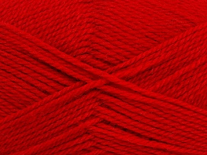 Fiber Content 50% Acrylic, 30% Wool, 20% Polyamide, Red, Brand ICE, Yarn Thickness 2 Fine  Sport, Baby, fnt2-42416