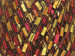 Trellis  Fiber Content 100% Polyester, Yellow, Red, Orange, Brand ICE, Yarn Thickness 5 Bulky  Chunky, Craft, Rug, fnt2-42718