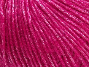 Fiber Content 50% Acrylic, 50% Polyamide, Brand ICE, Fuchsia, Yarn Thickness 4 Medium  Worsted, Afghan, Aran, fnt2-42748