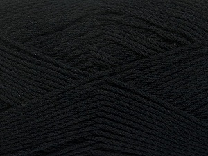 Fiber Content 50% Viscose, 50% Bamboo, Brand ICE, Black, Yarn Thickness 2 Fine  Sport, Baby, fnt2-43029