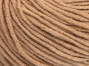 Fiber Content 50% Cotton, 50% Acrylic, Latte, Brand ICE, Yarn Thickness 3 Light  DK, Light, Worsted, fnt2-43835