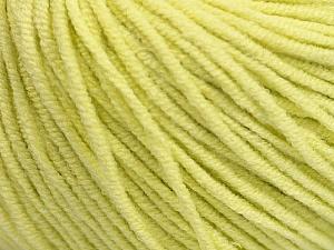 Fiber Content 50% Acrylic, 50% Cotton, Lemon Yellow, Brand ICE, Yarn Thickness 3 Light  DK, Light, Worsted, fnt2-43836