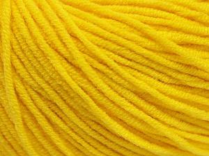 Fiber Content 50% Acrylic, 50% Cotton, Yellow, Brand ICE, Yarn Thickness 3 Light  DK, Light, Worsted, fnt2-43861