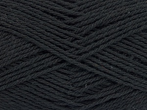Fiber Content 100% Cotton, Brand ICE, Black, Yarn Thickness 3 Light  DK, Light, Worsted, fnt2-44316
