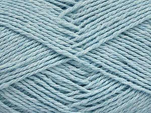 Fiber Content 100% Cotton, Light Blue, Brand ICE, Yarn Thickness 3 Light  DK, Light, Worsted, fnt2-44326
