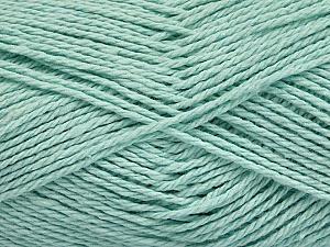 Fiber Content 100% Cotton, Mint Green, Brand ICE, Yarn Thickness 3 Light  DK, Light, Worsted, fnt2-44328