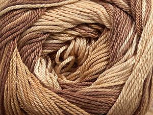 Fiber Content 100% Mercerised Cotton, Brand ICE, Brown Shades, Yarn Thickness 2 Fine  Sport, Baby, fnt2-44690