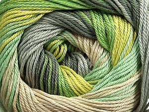 Fiber Content 100% Mercerised Cotton, Brand ICE, Grey Shades, Green Shades, Beige, Yarn Thickness 2 Fine  Sport, Baby, fnt2-44692